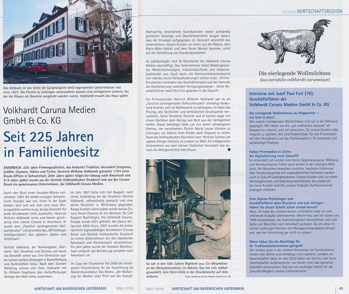 Pressebericht – Seit 225 Jahren im Familienbesitz