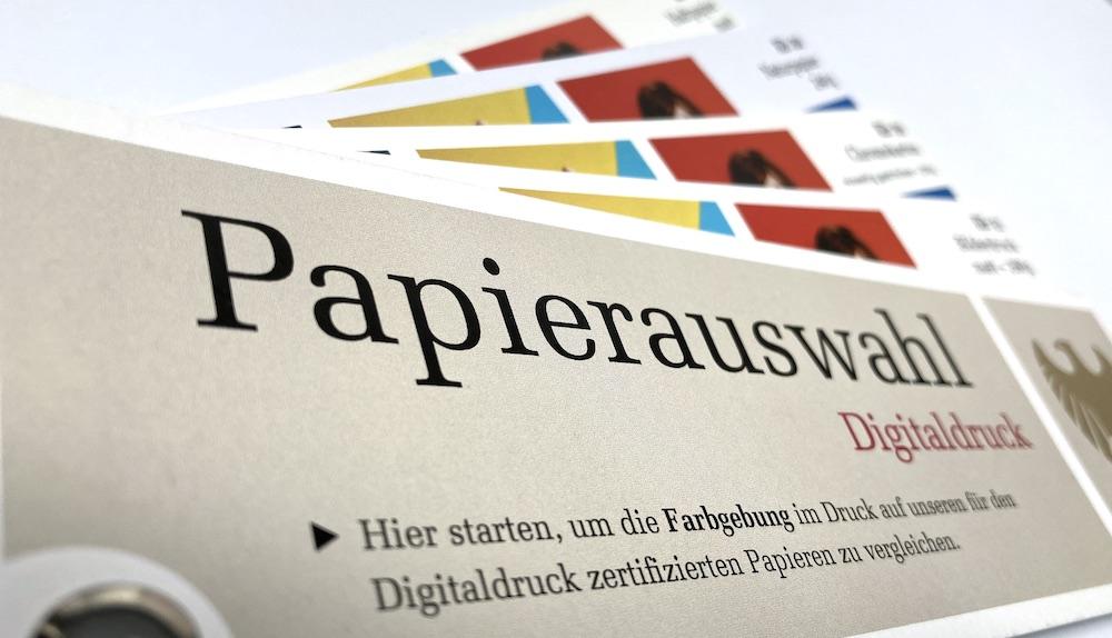 Papierfächer im Digitaldruck